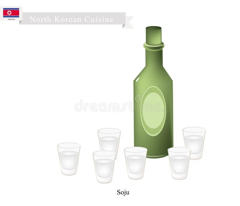 Liquore tradizionale coreano del riso, Dink popolare in Corea del Sud royalty illustrazione gratis