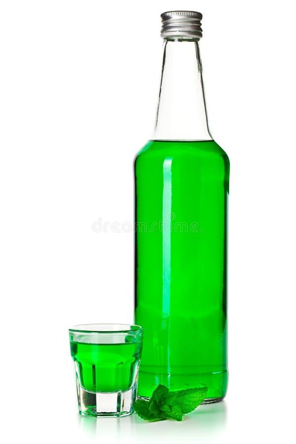 Liquore verde della menta immagine stock libera da diritti