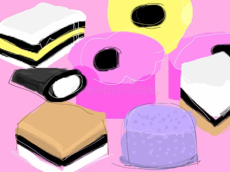 Liquorice Allsorts ilustração stock