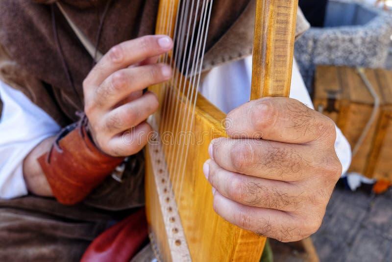 Lira średniowieczny instrument muzyczny zdjęcie stock