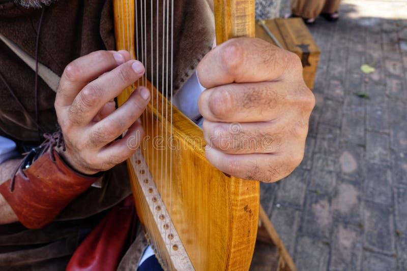 Lira średniowieczny instrument muzyczny obrazy stock