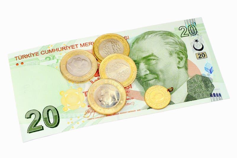 20 Lira Banknote Royalty Free Stock Photography