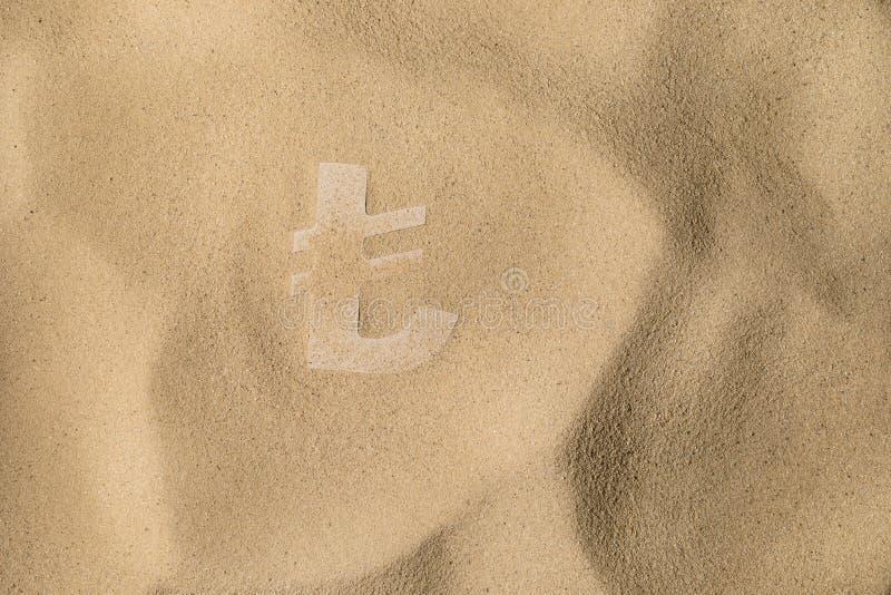 Lira symbol Pod piaskiem fotografia royalty free