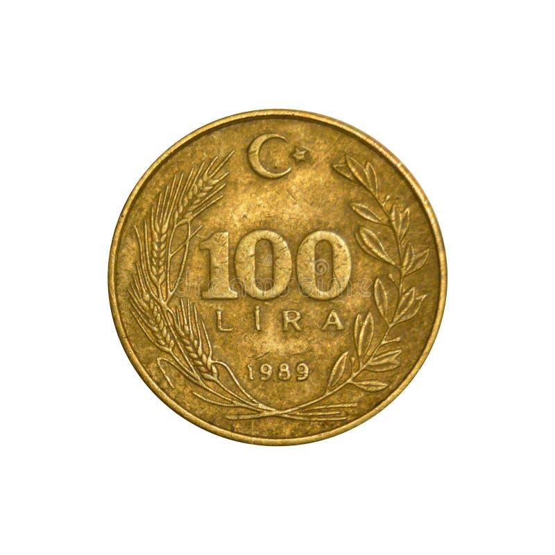 100_Lira_Tail_1989 royalty-vrije stock foto's