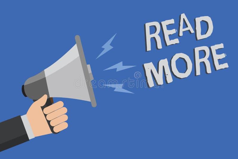 Lire la suite des textes d'écriture de Word Concept d'affaires pour Provide plus d'heure ou de lecture complète pour un homme spé illustration stock