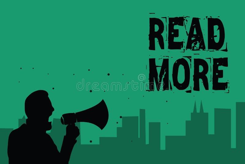 Lire la suite des textes d'écriture de Word Concept d'affaires pour Provide plus d'heure ou de lecture complète pour un homme spé illustration de vecteur