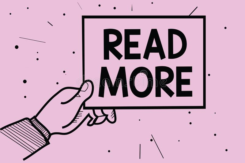 Lire la suite des textes d'écriture de Word Concept d'affaires pour Provide plus d'heure ou de lecture complète pour une prise sp illustration libre de droits