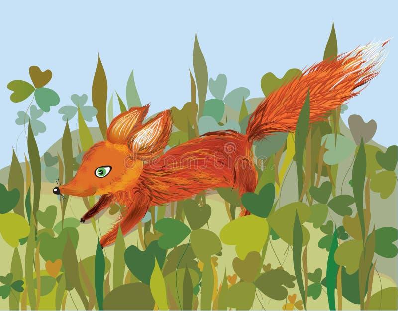 lis trawa ilustracja wektor