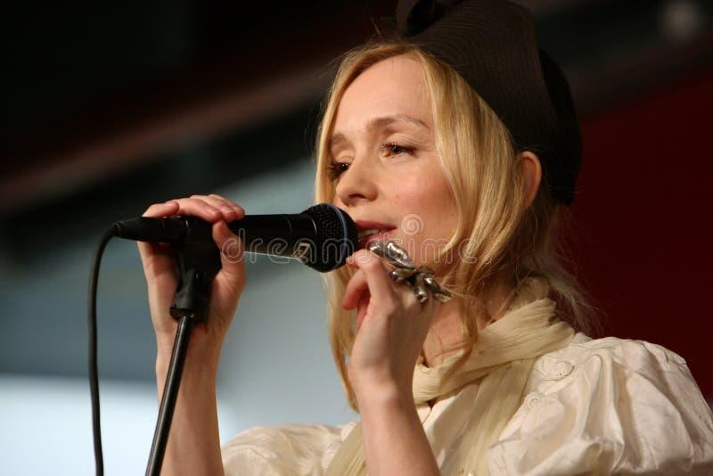 Lisa Ekdahl performs in Paris stock photos