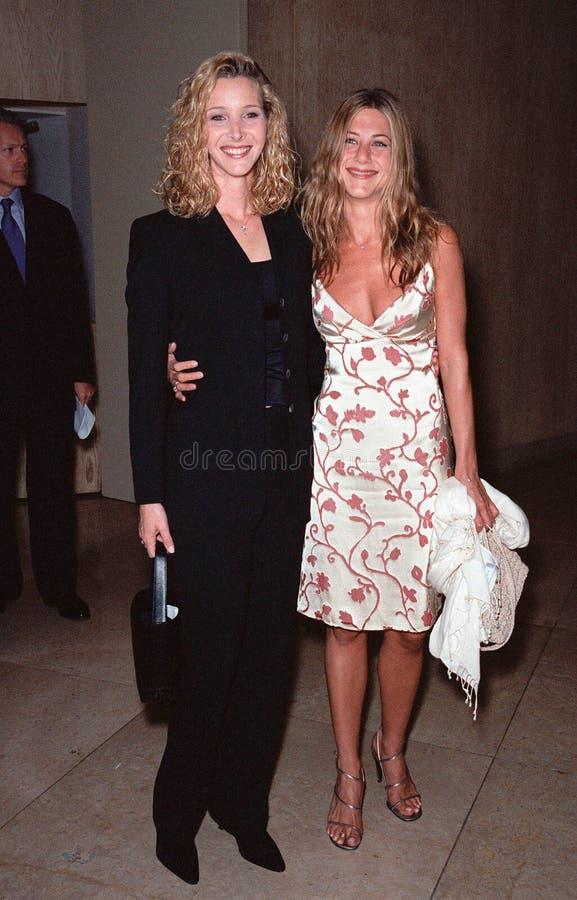 Lisa Kudrow, Jennifer Aniston, die Produzenten stockbild