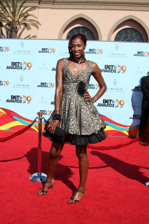 Lisa Leslie. Arriving at the BET Awards 2009 at the Shrine Auditorium in Los Angeles, CA on June 28, 2009 royalty free stock photo