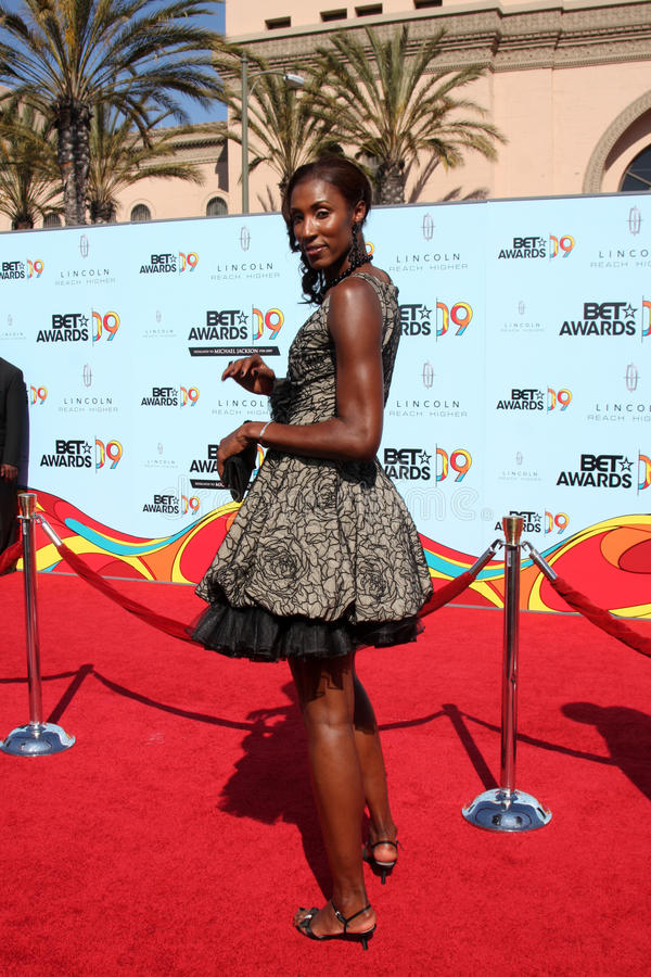 Lisa Leslie. Arriving at the BET Awards 2009 at the Shrine Auditorium in Los Angeles, CA on June 28, 2009 royalty free stock image