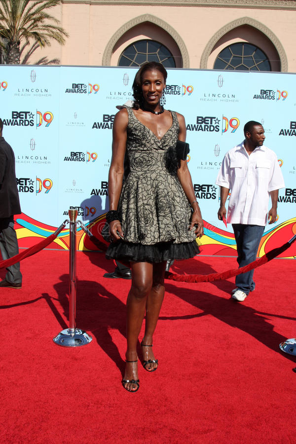 Lisa Leslie. Arriving at the BET Awards 2009 at the Shrine Auditorium in Los Angeles, CA on June 28, 2009 royalty free stock photos