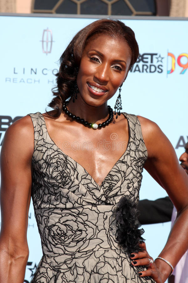 Lisa Leslie. Arriving at the BET Awards 2009 at the Shrine Auditorium in Los Angeles, CA on June 28, 2009 stock photography