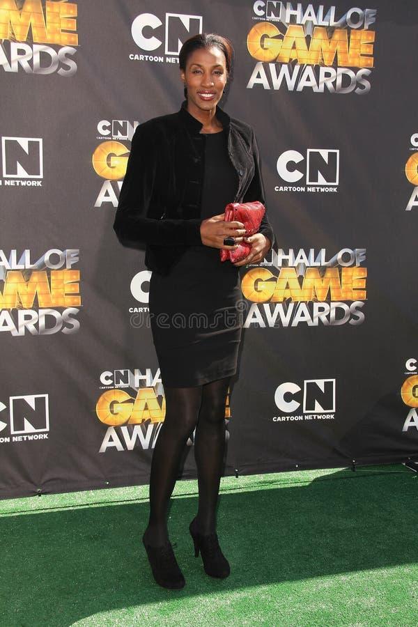 Lisa Leslie. At Cartoon Network's first ever Hall Of Game Awards, Barker Hanger, Santa Monica, CA. 02-21-11 stock photography