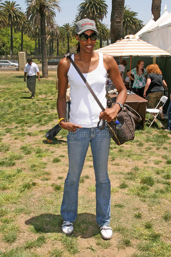 Lisa Leslie. At 'A Time For Heroes Celebrity Carnival' benefitting the Elizabeth Glaser Pediatric AIDS Foundation. Wadsworth Theater, Los Angeles, CA. 06-08-08 stock photos