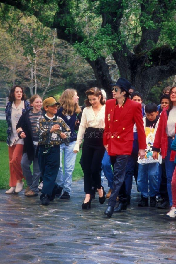 Lisa Marie, Lisa Marie Presley, Michael Jackson, Neverland stock photo