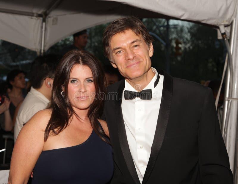 Lisa Oz en Mehmet Oz stock afbeelding