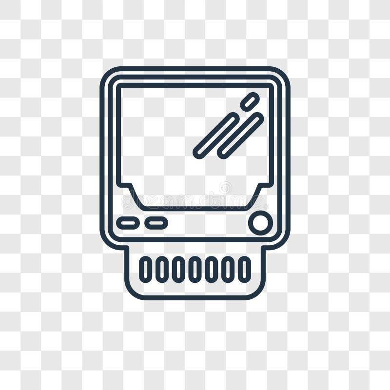 Lisa pojęcia wektorowa liniowa ikona odizolowywająca na przejrzystym backgrou ilustracji