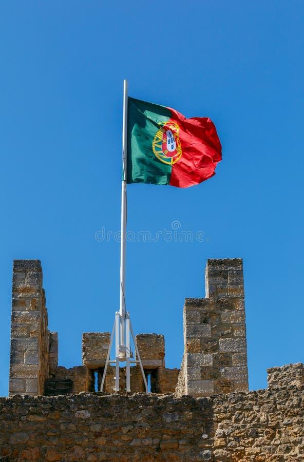 lisboa A bandeira portuguesa foto de stock
