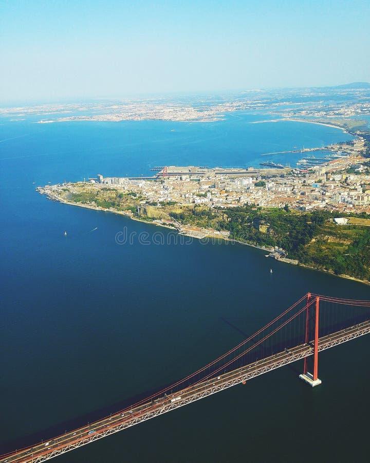 Lisboa do céu fotografia de stock