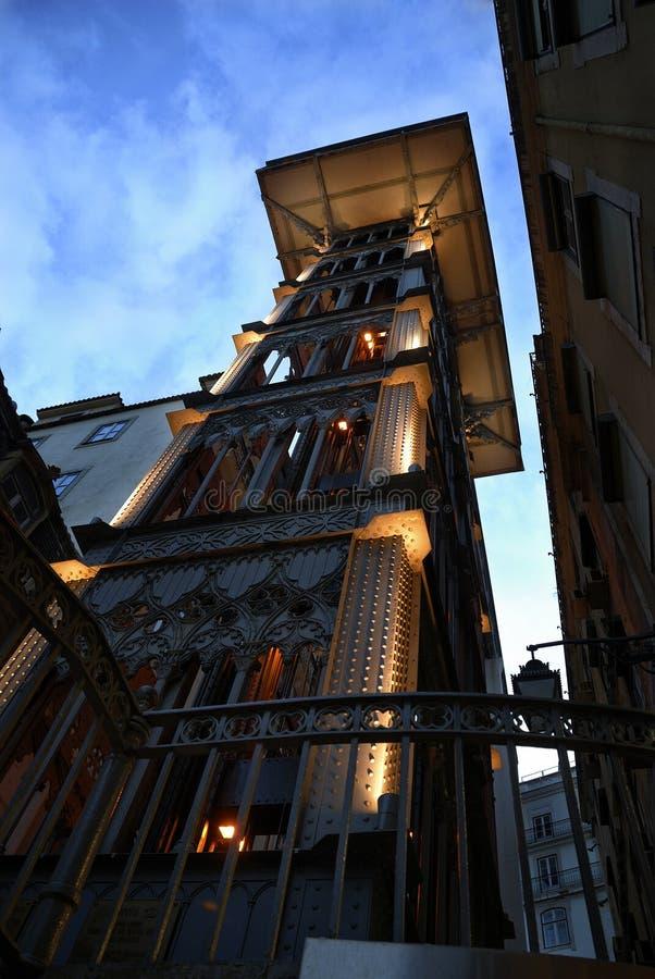 Lisboa, elevador De Santa Justa zdjęcia royalty free