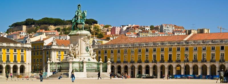 Lisboa Placa hace Comercio fotografía de archivo libre de regalías