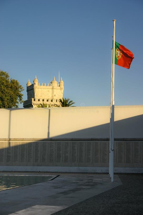 Lisboa, Portugal - 17 de setembro de 2006: Lista com nomes do soldie fotos de stock