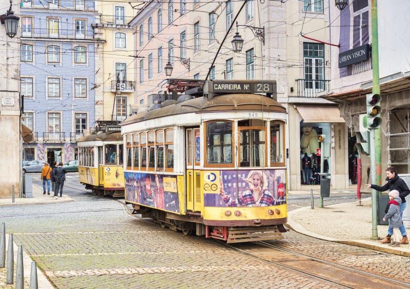 Lisboa transporta o quadrado de 28 Figueira fotografia de stock
