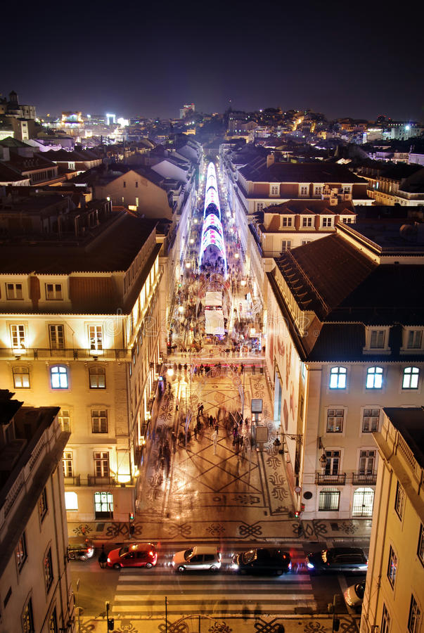 Lisbon śródmieście fotografia stock