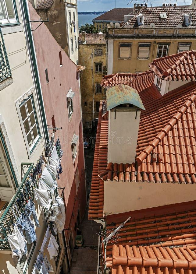 lisbon Португалия Смотровая площадка Portas делает Sol стоковое изображение rf