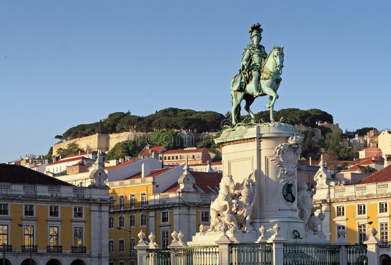 Download Lisbon stock image. Image of historical, town, castle - 1347307