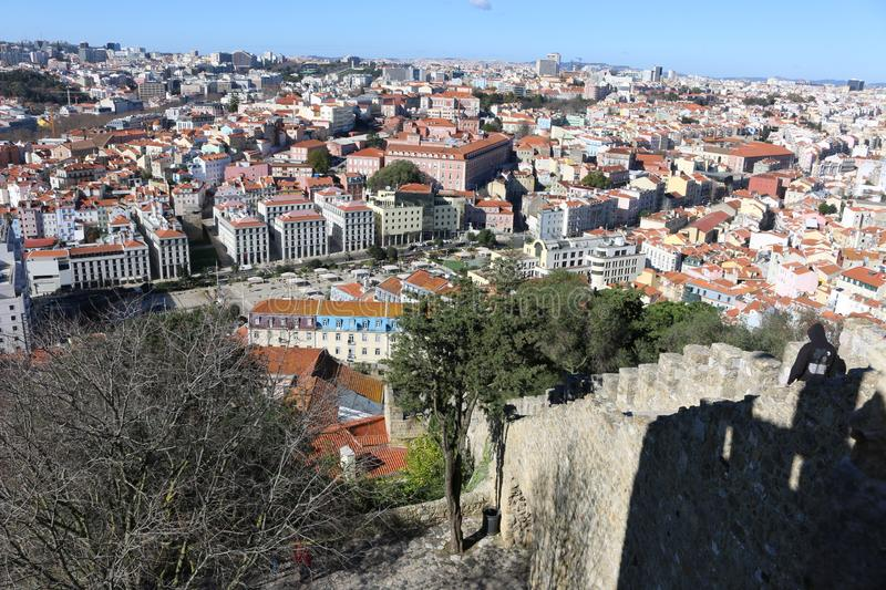 Lisbon from above royalty free stock photography