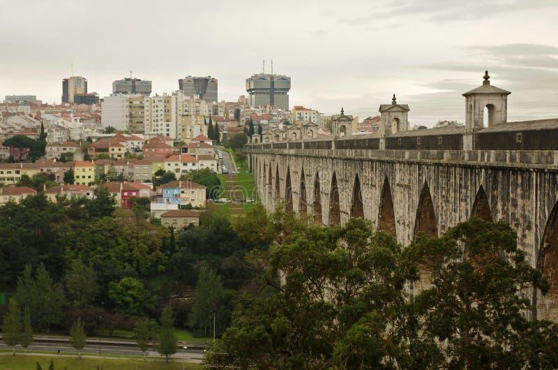 Lisbon akwedukt obraz stock