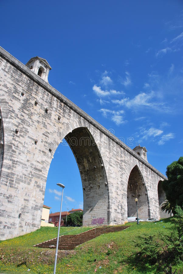 Download Lisbon Aqueduct stock photo. Image of obsolete, gothic - 14856432