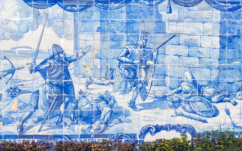 Lisbon azulejos royaltyfria foton