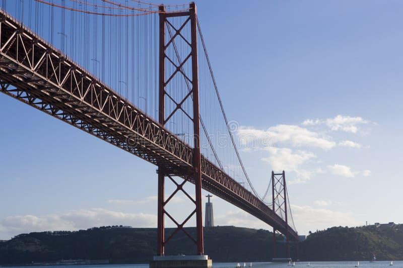 Lisbon bridge royalty free stock photos