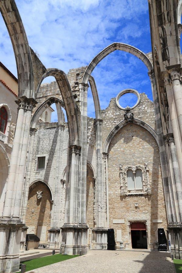 Lisbon Carmo klasztor obrazy royalty free