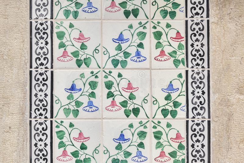 Lisbon Ceramic Tiles Close Up royalty free stock image