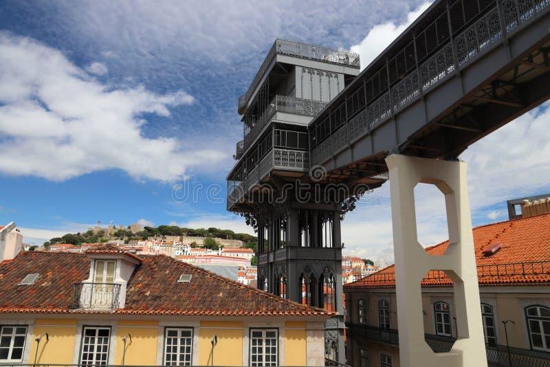 Lisbon Santa Justa. Lisbon city in Portugal. Santa Justa lift royalty free stock photography