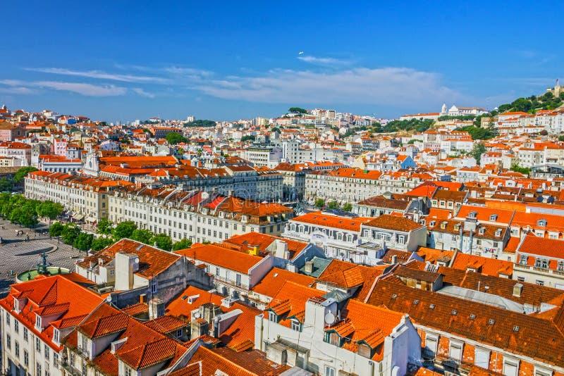 Lisbon city street view, Portugal stock photo