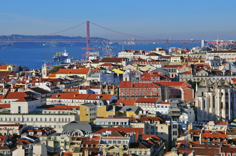 Download Lisbon cityscape editorial stock photo. Image of district - 31954303