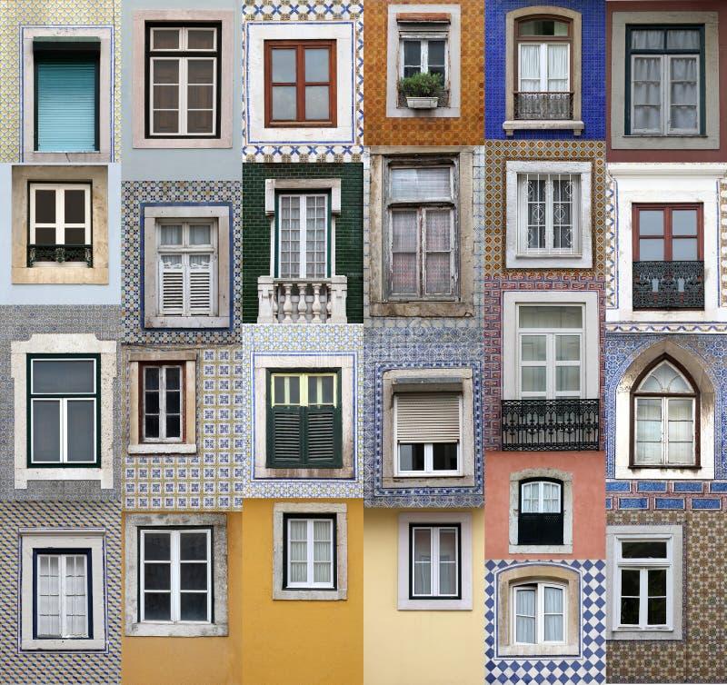 lisbon fönster royaltyfri fotografi