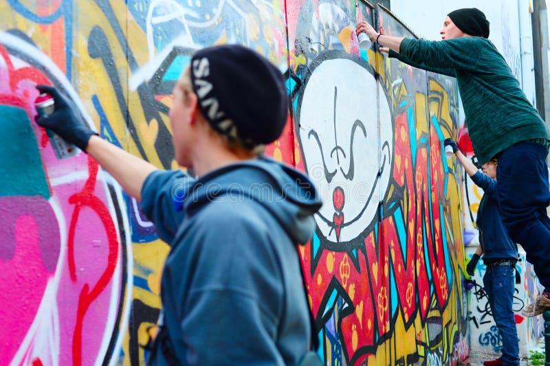 Lisbon graffiti royalty free stock photography