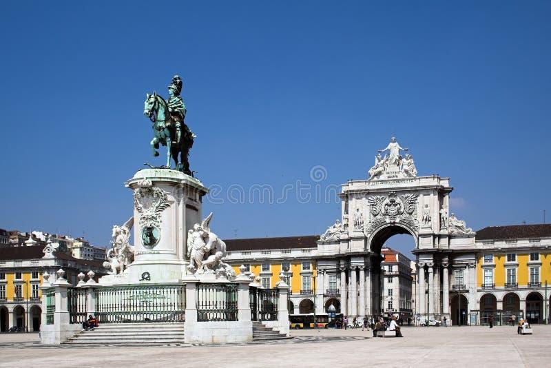 Lisbon handlu square zdjęcia stock