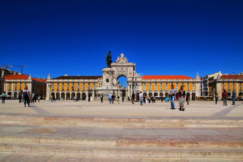 Lisbon handlu square fotografia royalty free