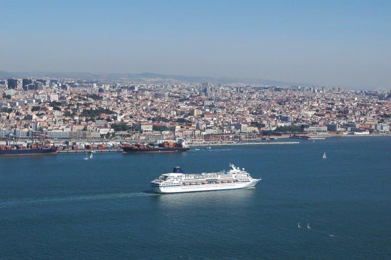 Lisbon Harbour stock images