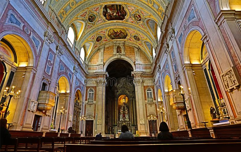 Lisbon HDR †'St Nicholas kościół obraz stock
