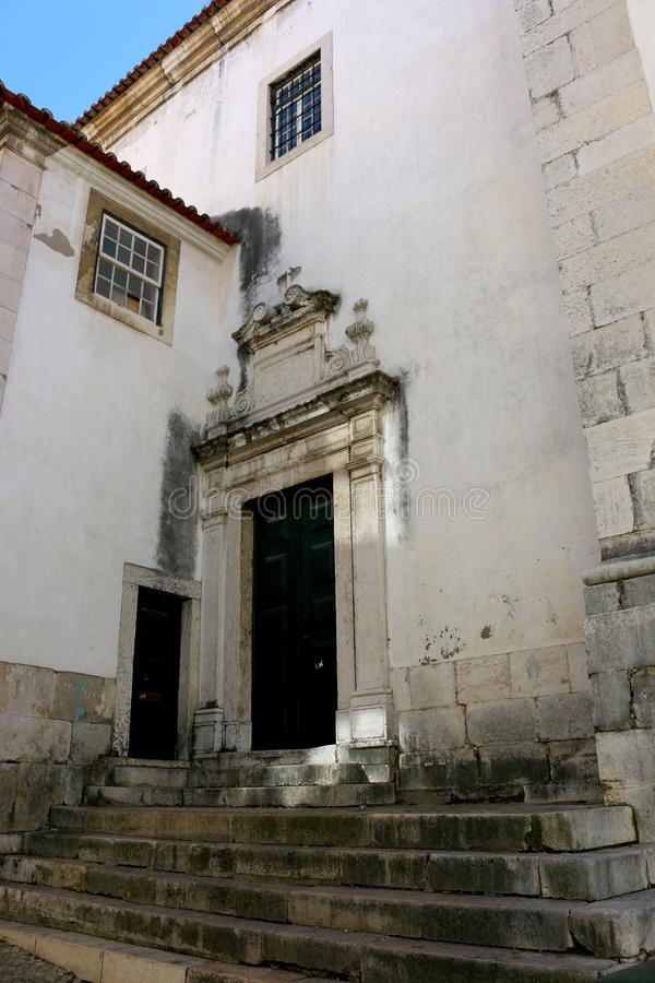 Lisbon house building streets wall window royalty free stock photography