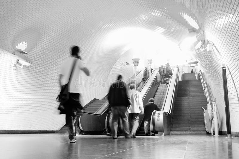 Lisbon Metro. LISBON, PORTUGAL - MAY 29, 2014: A Lisbon Metro station. The Lisbon Metro opened in 1959, it was the first subway system in Portugal. It consists royalty free stock photo